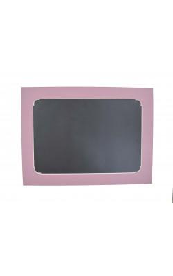Гибкая магнитно-маркерная доска для холодильника, 17*22*2 см, темно-розовый