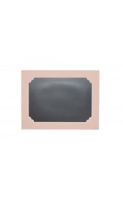 Гибкая магнитно-маркерная доска для холодильника, 33,5*25*2 см, розовый