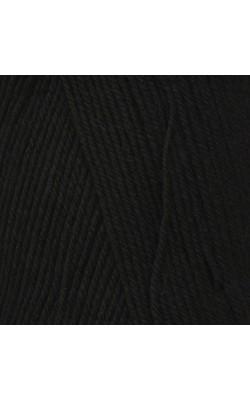 """Пряжа """"Афродита"""" 100гр. 250м, 50% шерсть, 50% акрил (13 черный)"""