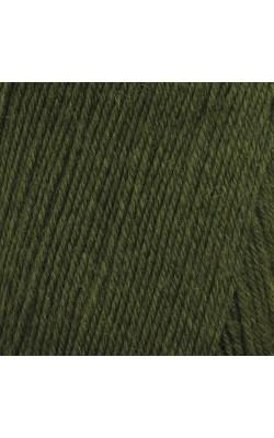 """Пряжа """"Афродита"""" 100гр. 250м, 50% шерсть, 50% акрил (14 зеленый)"""