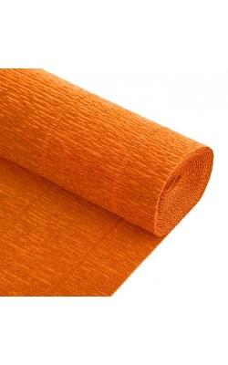 Бумага гофрированная, 50*250 см, 140 г/м2, оранжевая, 981